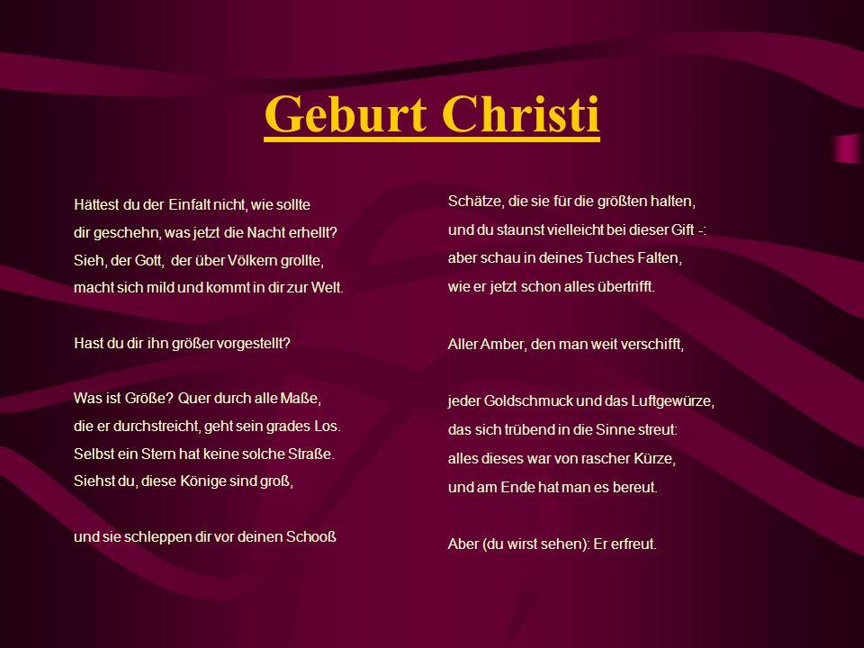 Geburt Christi Hättest du der Einfalt nicht, wie sollte