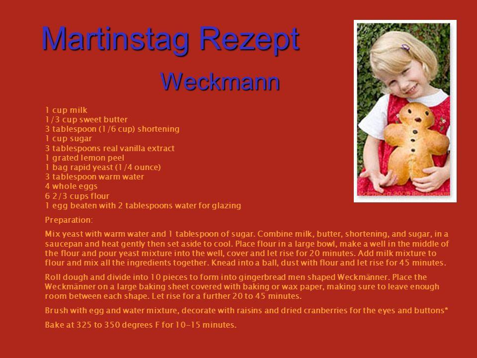 Martinstag Rezept Weckmann