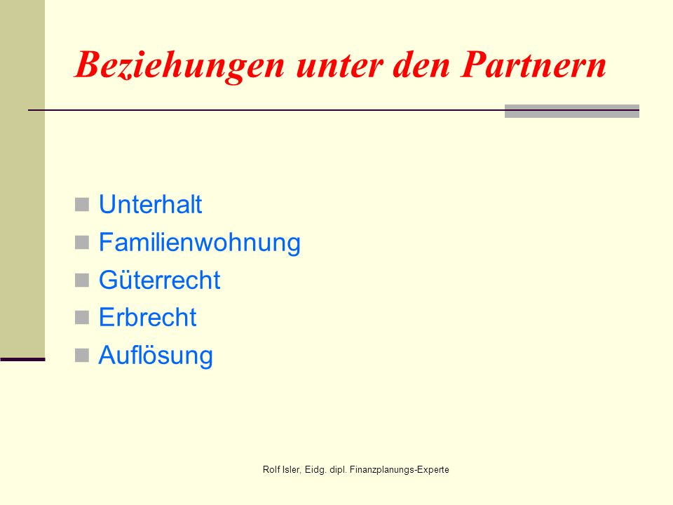 Beziehungen unter den Partnern