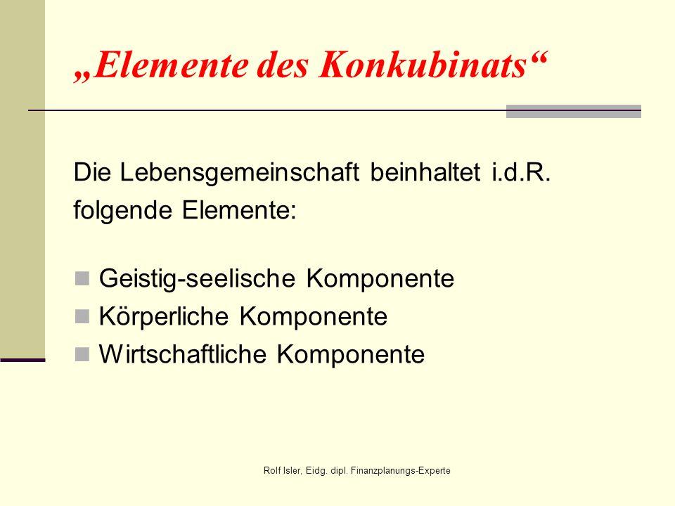"""""""Elemente des Konkubinats"""
