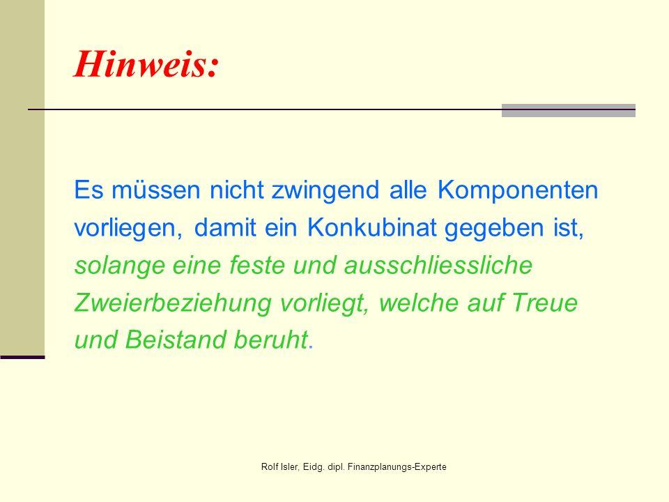 Rolf Isler, Eidg. dipl. Finanzplanungs-Experte