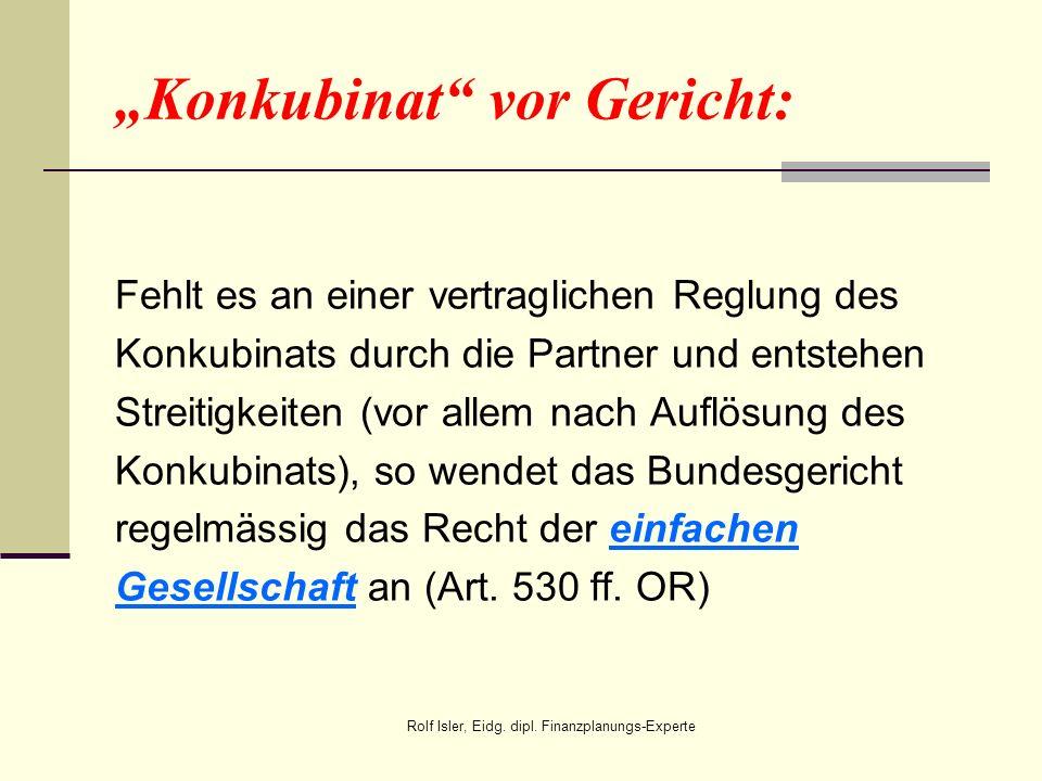 """""""Konkubinat vor Gericht:"""