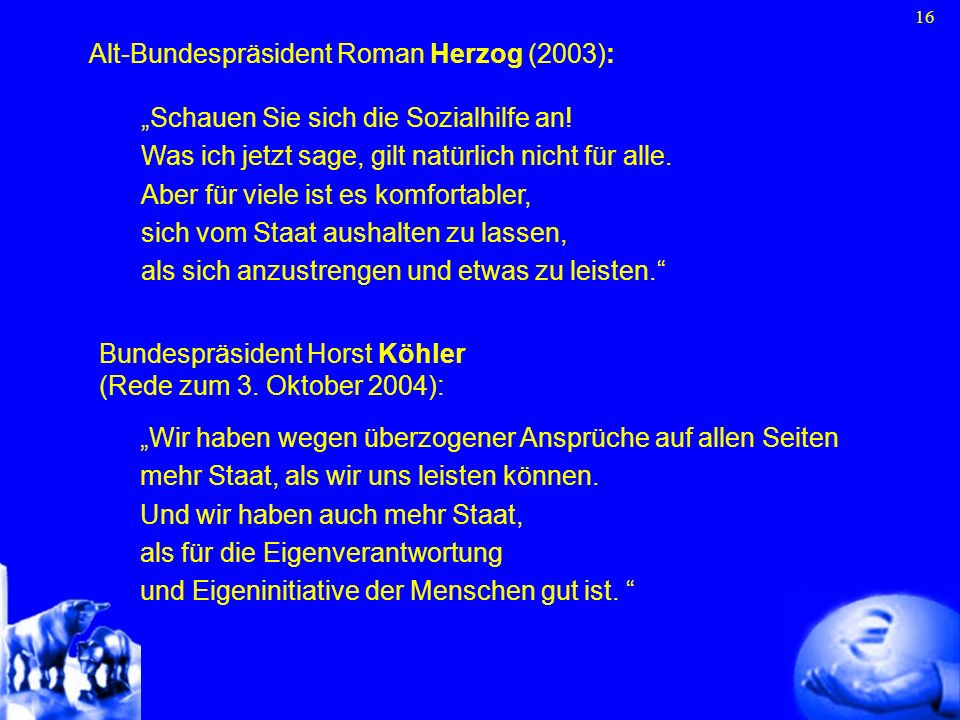 Alt-Bundespräsident Roman Herzog (2003):