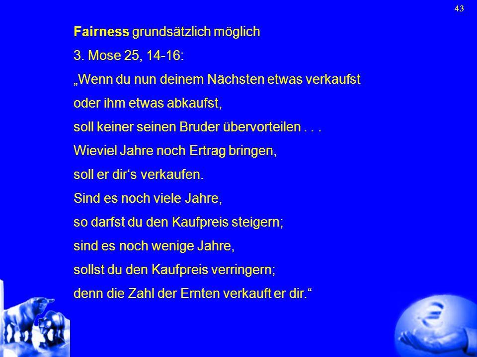 Fairness grundsätzlich möglich