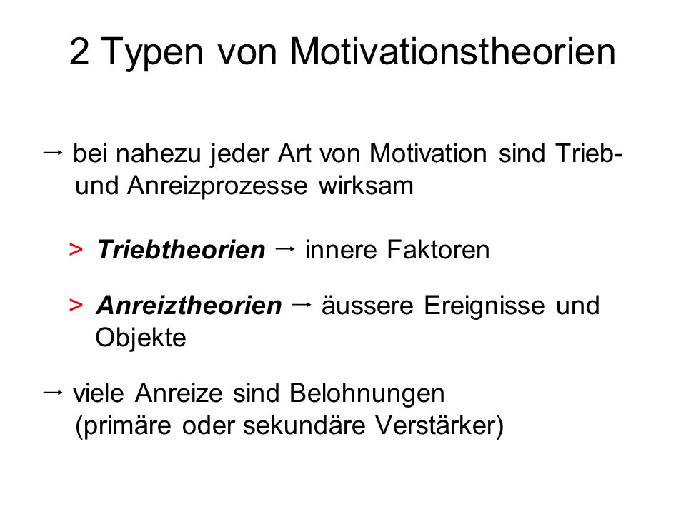 2 Typen von Motivationstheorien