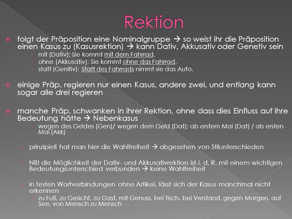 Rektion