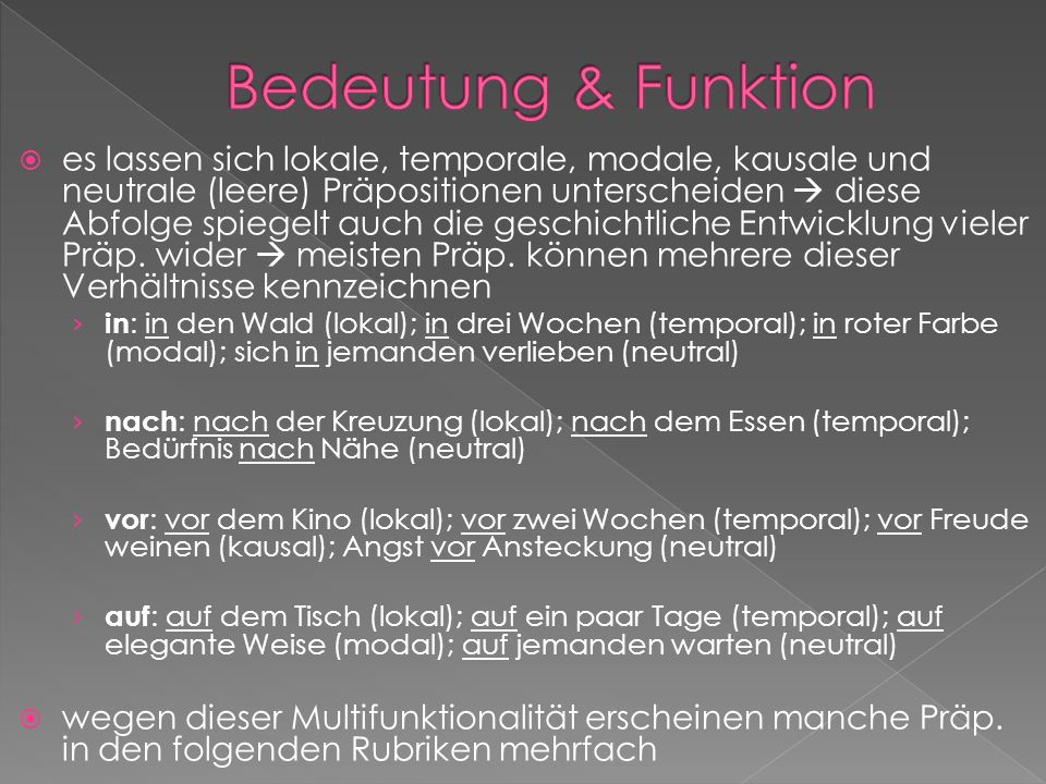 Bedeutung & Funktion