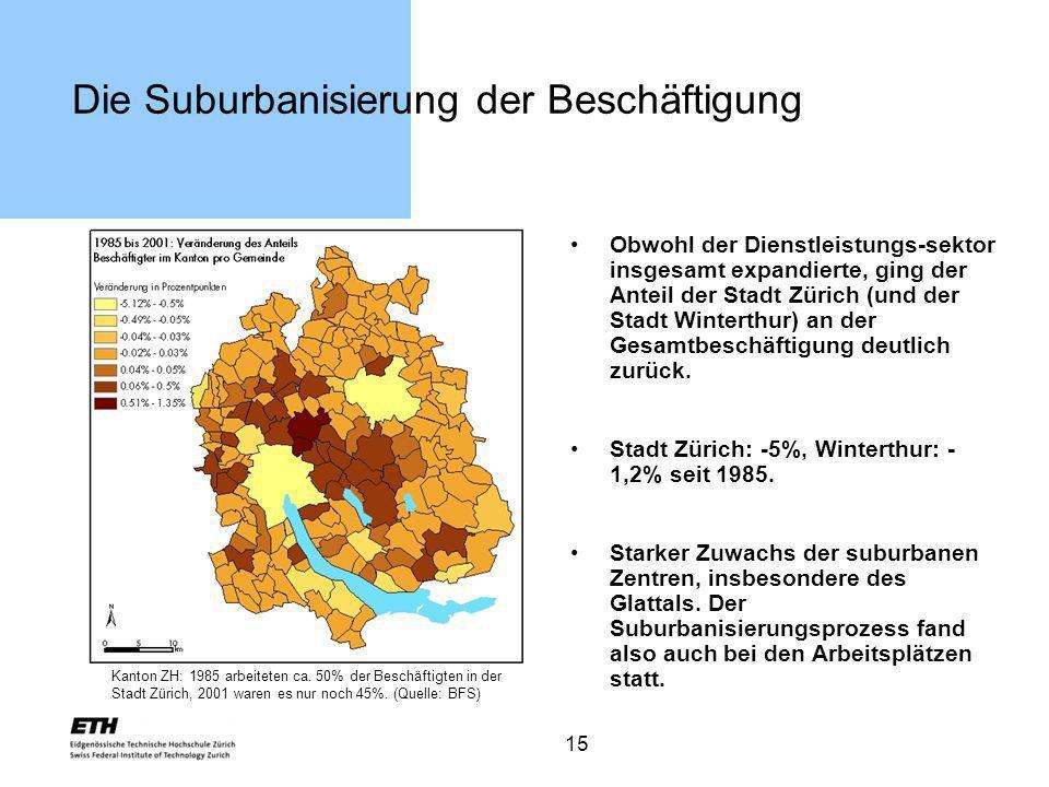 Die Suburbanisierung der Beschäftigung
