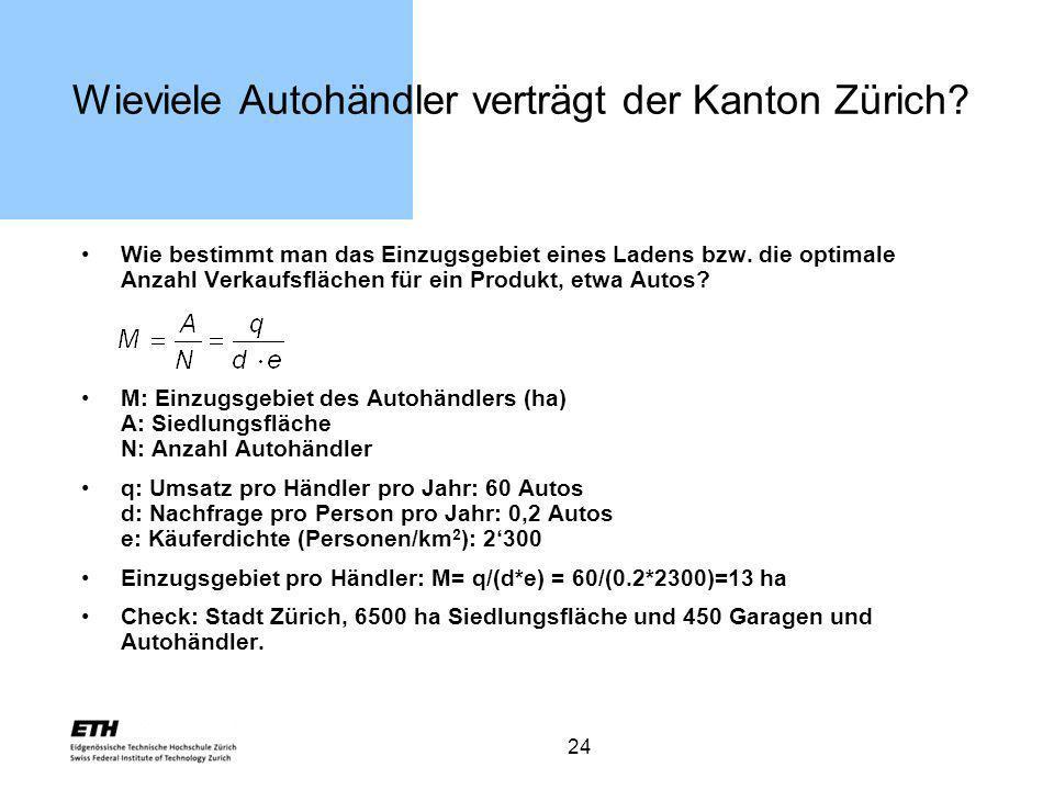 Wieviele Autohändler verträgt der Kanton Zürich