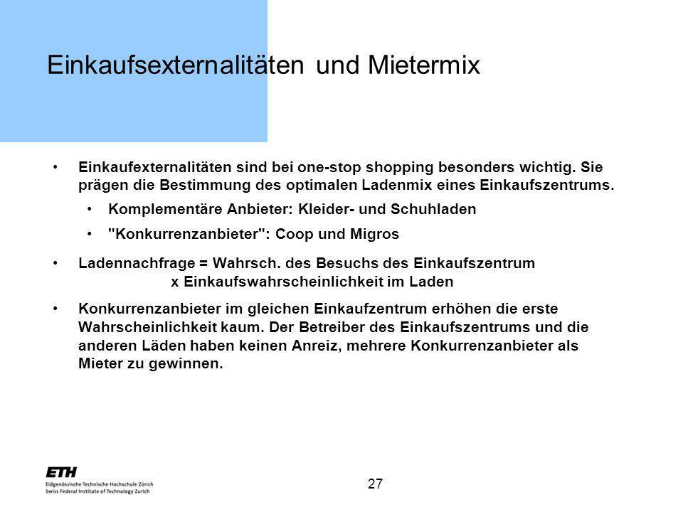 Einkaufsexternalitäten und Mietermix