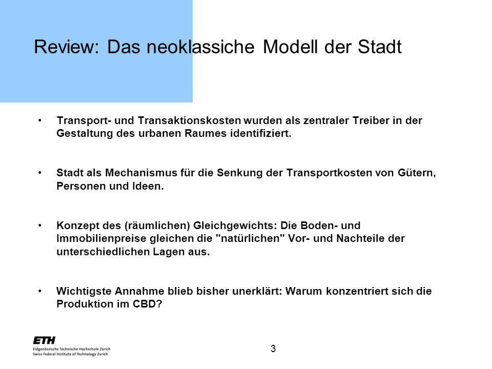 Review: Das neoklassiche Modell der Stadt