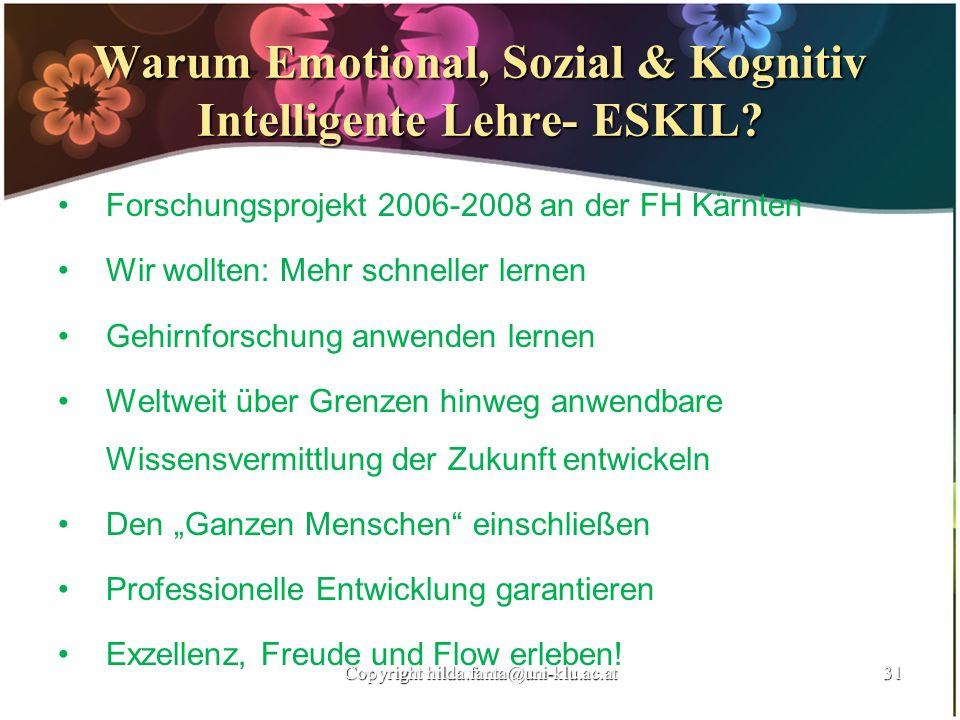 Warum Emotional, Sozial & Kognitiv Intelligente Lehre- ESKIL