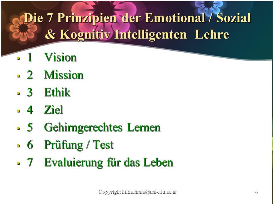 Die 7 Prinzipien der Emotional / Sozial & Kognitiv Intelligenten Lehre