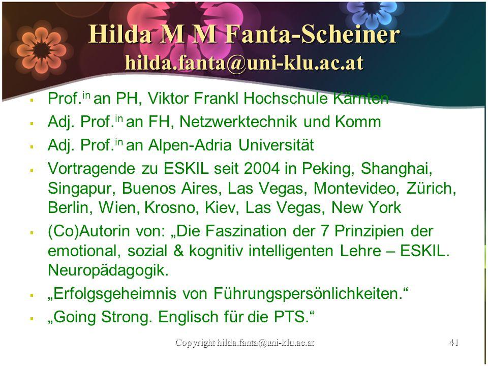 Hilda M M Fanta-Scheiner hilda.fanta@uni-klu.ac.at