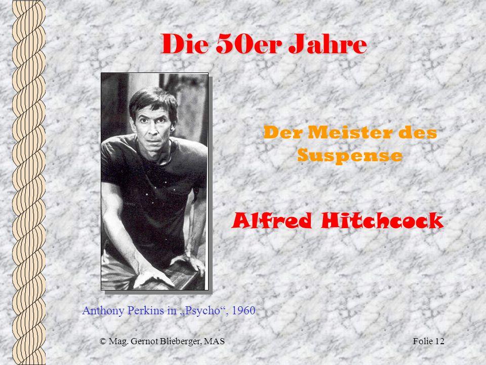 Die 50er Jahre Alfred Hitchcock Der Meister des Suspense