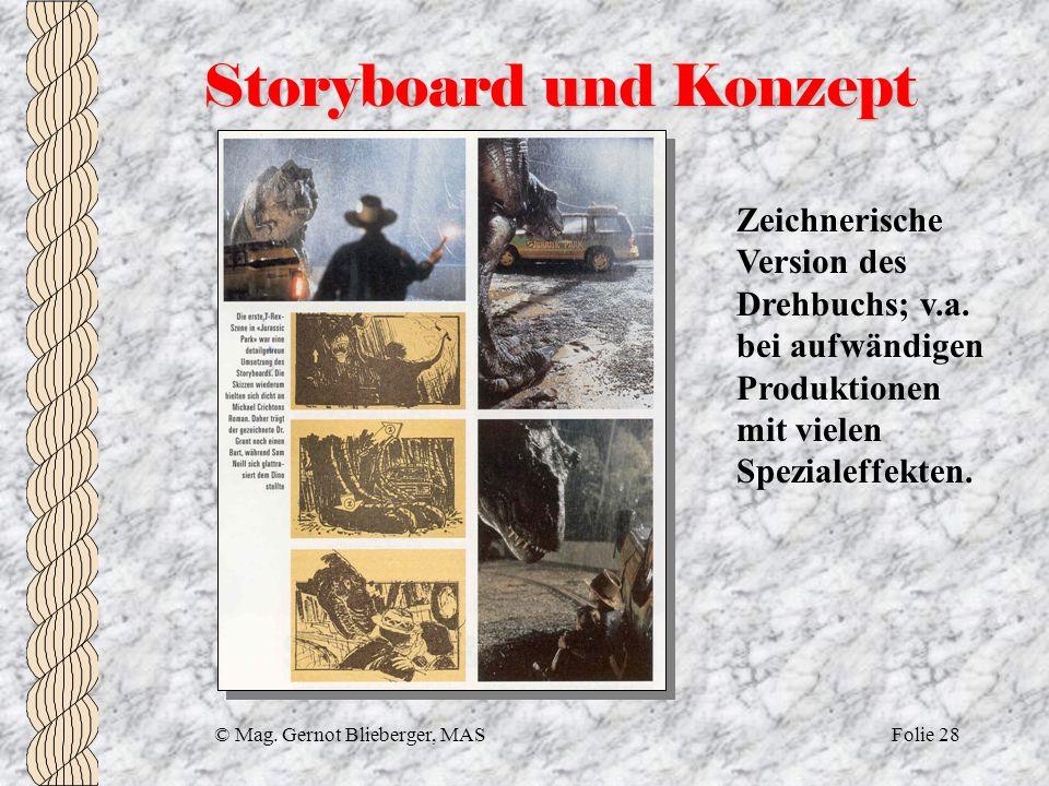 Storyboard und Konzept