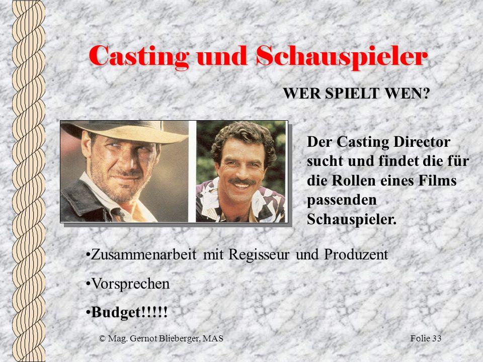 Casting und Schauspieler