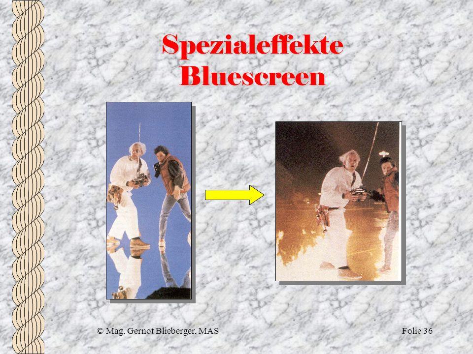 Spezialeffekte Bluescreen