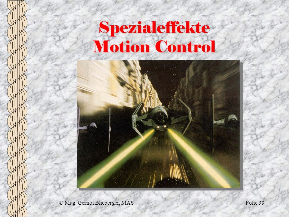 Spezialeffekte Motion Control