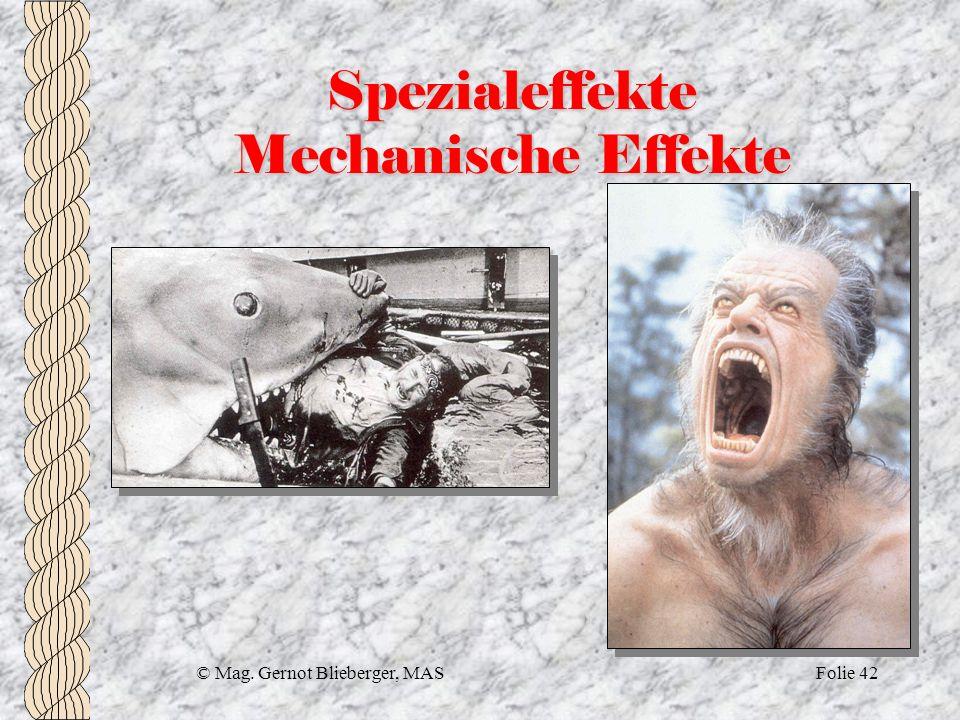 Spezialeffekte Mechanische Effekte