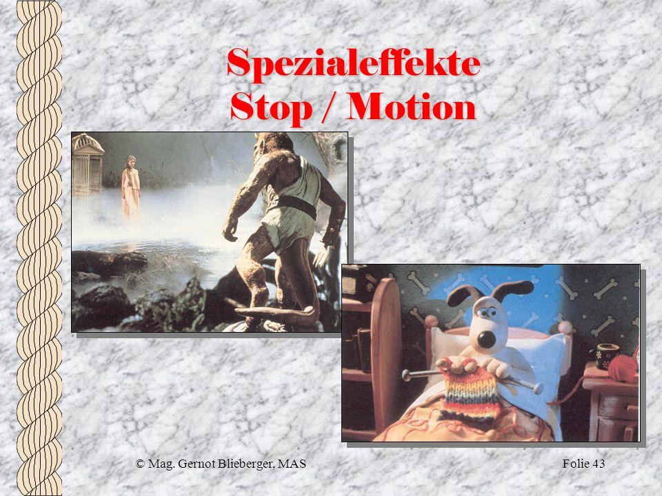 Spezialeffekte Stop / Motion