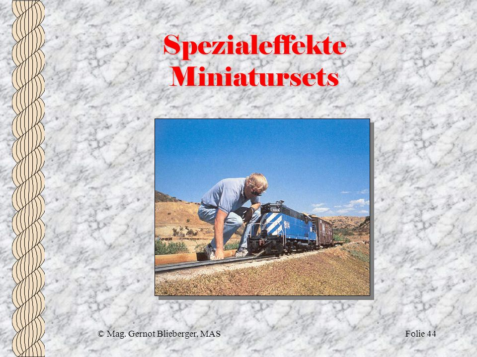 Spezialeffekte Miniatursets