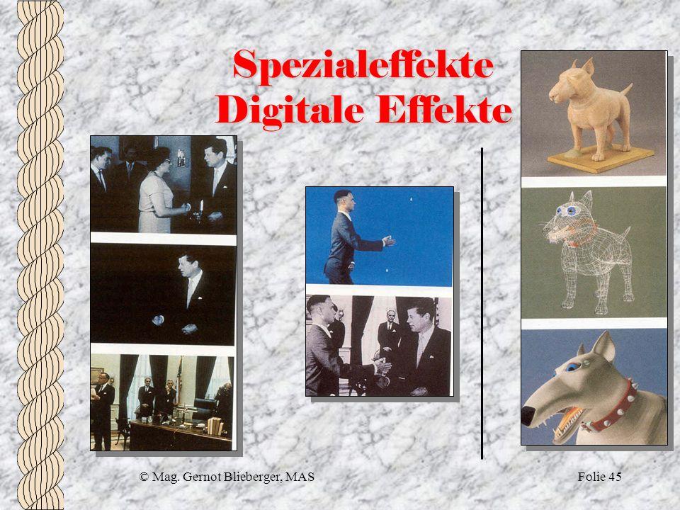 Spezialeffekte Digitale Effekte
