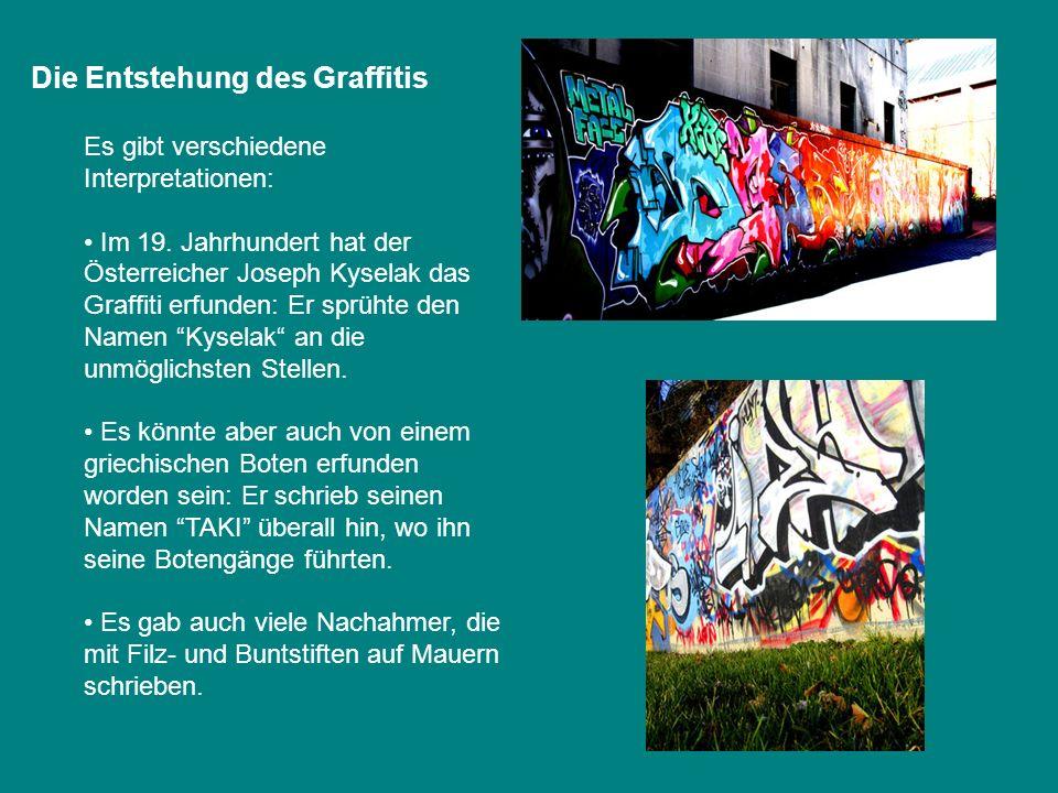 Die Entstehung des Graffitis