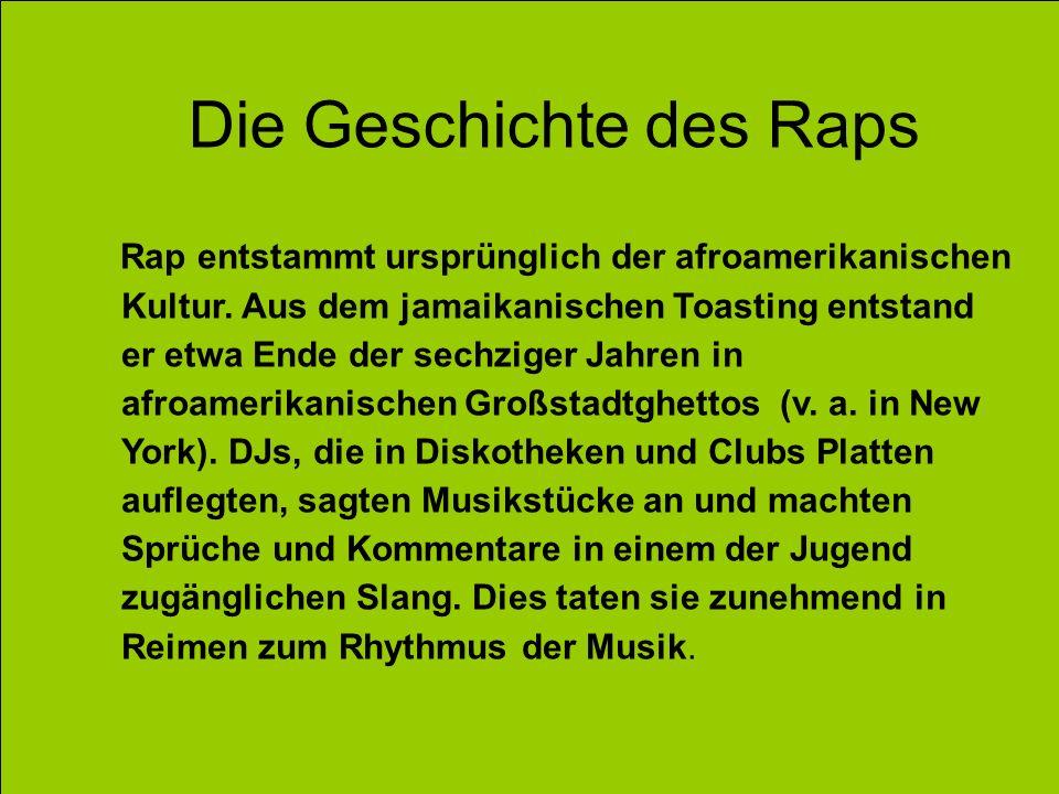 Die Geschichte des Raps