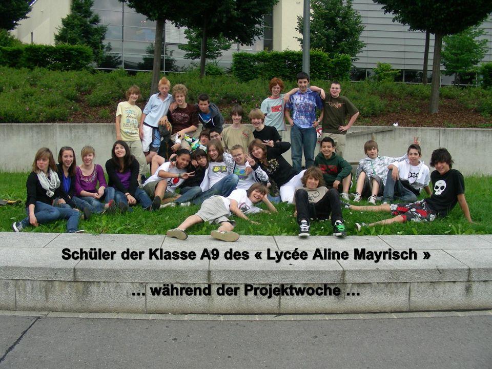 Schüler der Klasse A9 des « Lycée Aline Mayrisch »