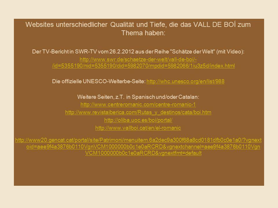 Weitere Seiten, z.T. in Spanisch und/oder Catalan: