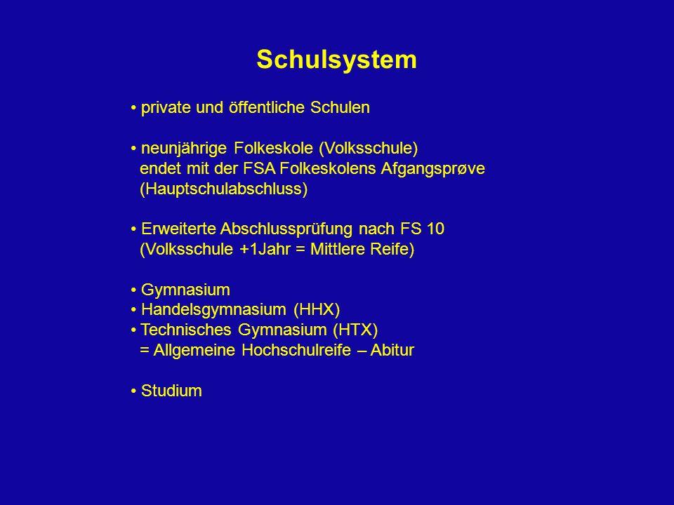 Schulsystem private und öffentliche Schulen