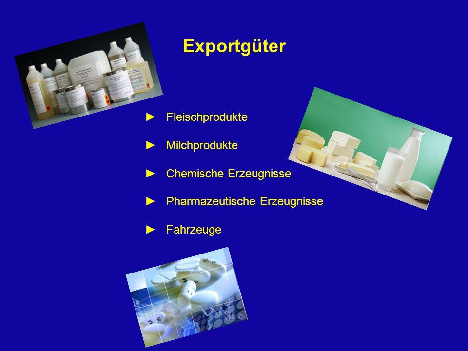 Exportgüter ► Fleischprodukte ► Milchprodukte ► Chemische Erzeugnisse