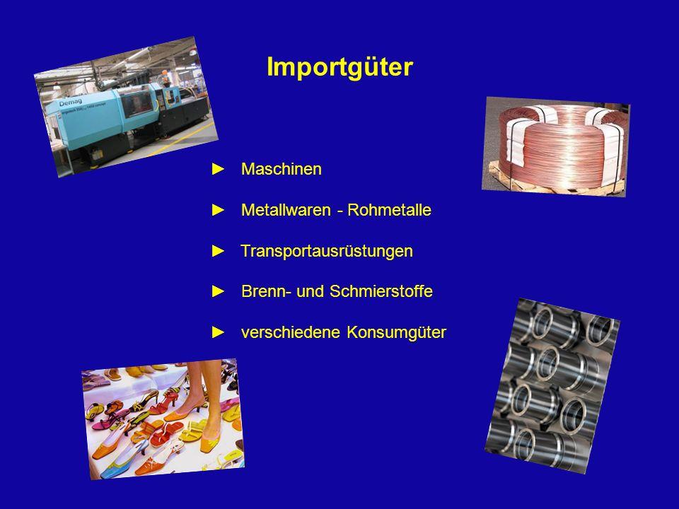 Importgüter ► Maschinen ► Metallwaren - Rohmetalle