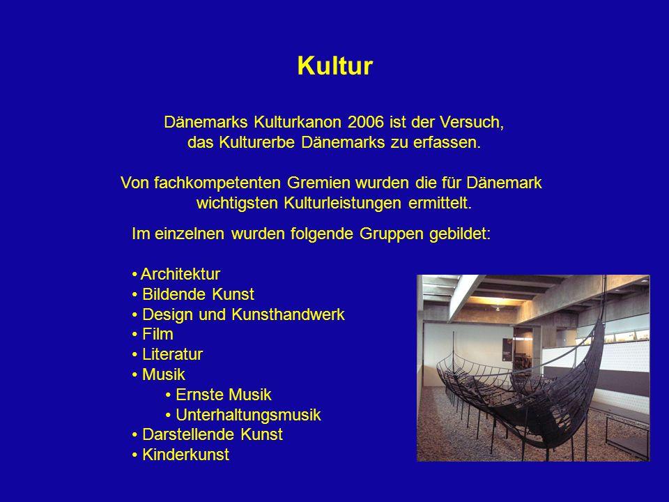 Kultur Dänemarks Kulturkanon 2006 ist der Versuch,