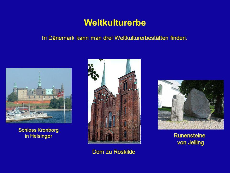In Dänemark kann man drei Weltkulturerbestätten finden: