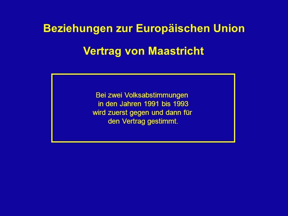 Beziehungen zur Europäischen Union Vertrag von Maastricht
