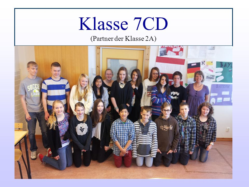 Klasse 7CD (Partner der Klasse 2A)