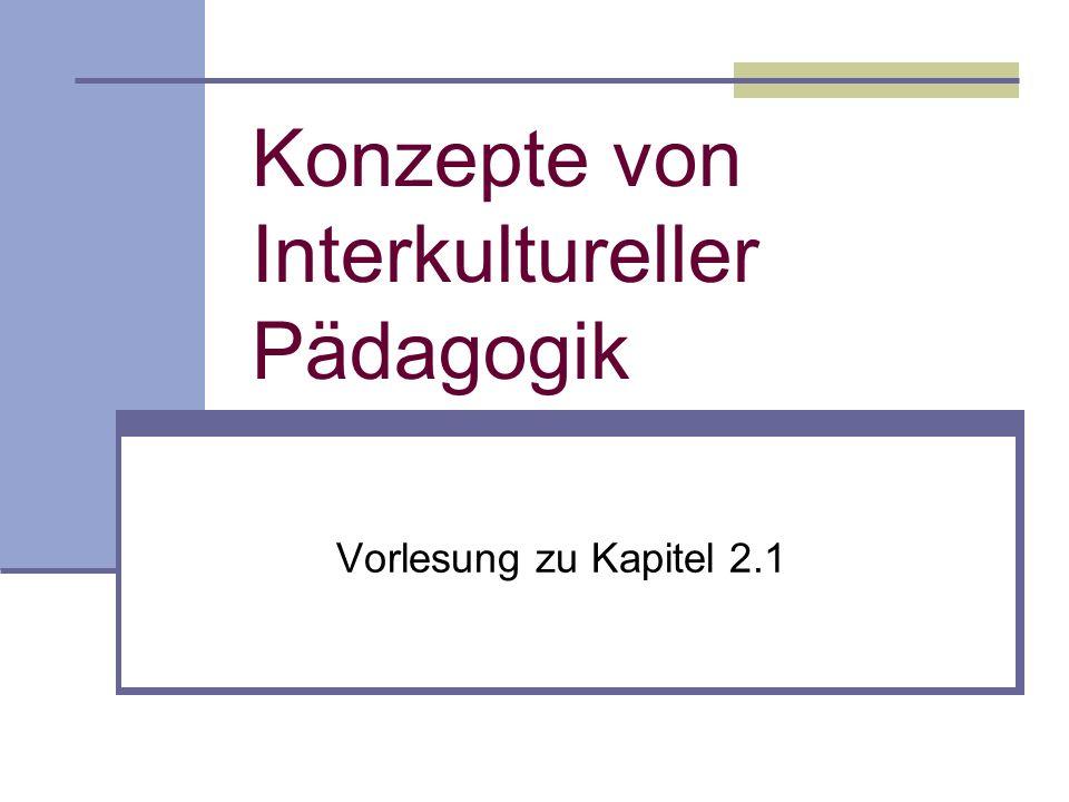 Konzepte von Interkultureller Pädagogik