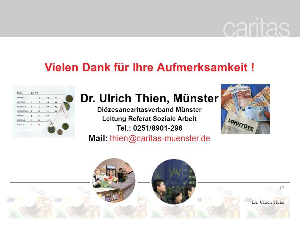 Vielen Dank für Ihre Aufmerksamkeit ! Dr. Ulrich Thien, Münster