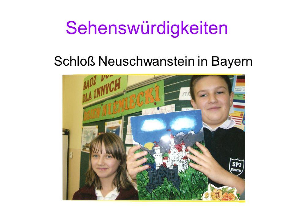 Sehenswürdigkeiten Schloß Neuschwanstein in Bayern