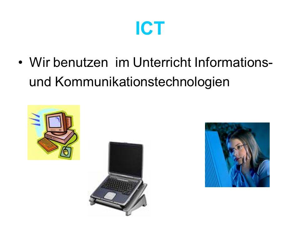 ICT Wir benutzen im Unterricht Informations-