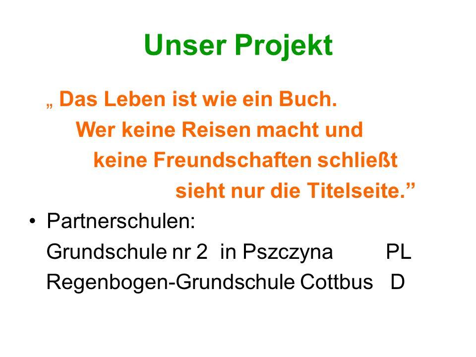 """Unser Projekt """" Das Leben ist wie ein Buch. Wer keine Reisen macht und"""