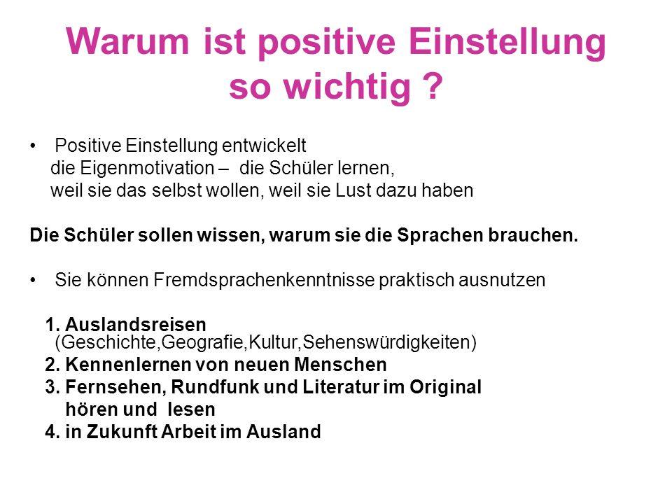 Warum ist positive Einstellung so wichtig