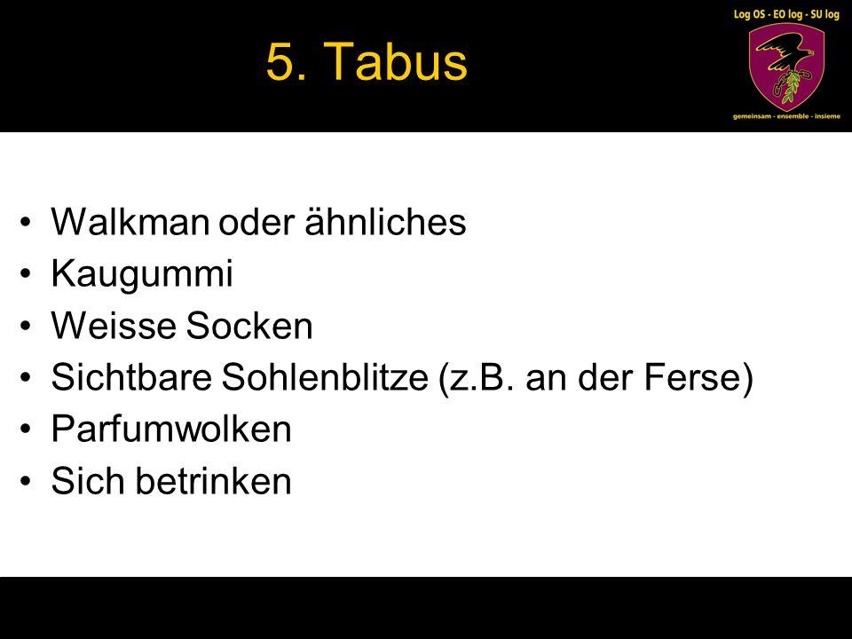 5. Tabus Walkman oder ähnliches Kaugummi Weisse Socken