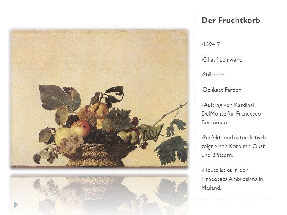 Der Fruchtkorb 1594-7 Öl auf Leinwand Stillleben Delikate Farben