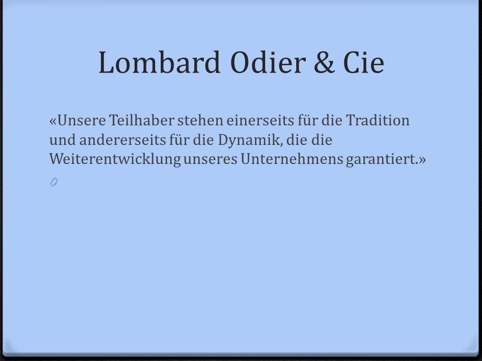 Lombard Odier & Cie