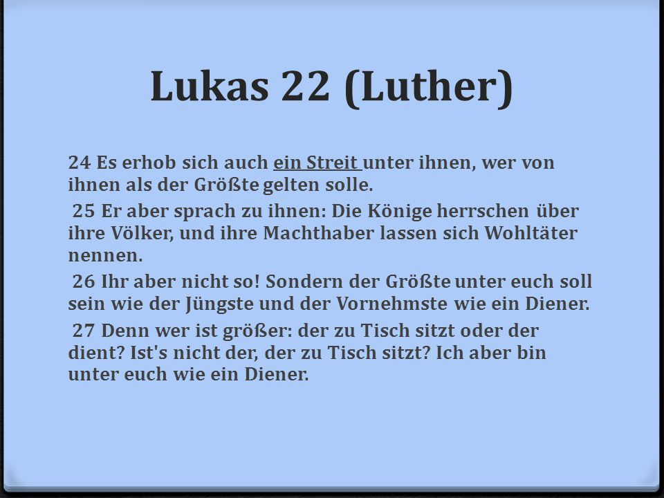 Lukas 22 (Luther)