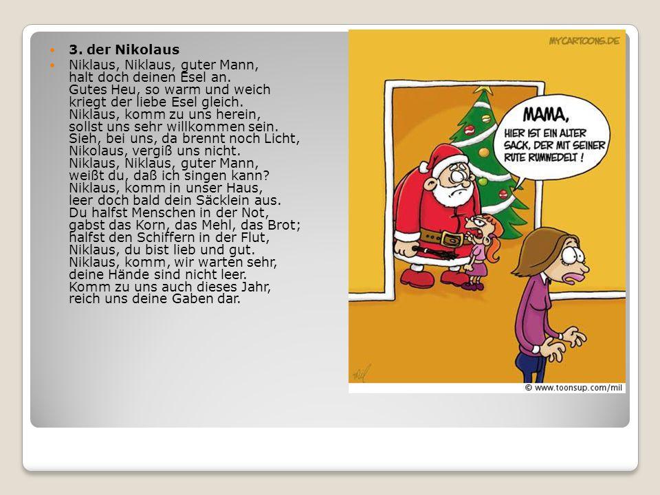 3. der Nikolaus