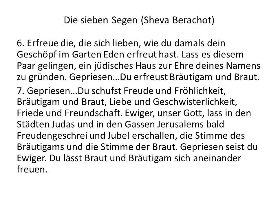 Die sieben Segen (Sheva Berachot)
